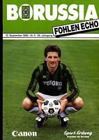 BL 90/91 Borussia Mönchengladbach - 1. FC Nürnberg, 13.10.1990