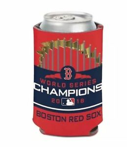 WinCraft Boston Red Sox 2018 World Series Champions 12oz. Logo Can Cooler