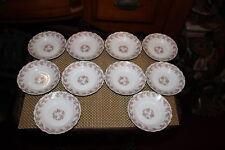 Antique Limoges Elite Desert Bowls-10 Bowls-Pink Roses-Higgins & Seiter NY