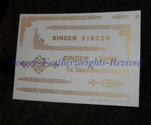 SINGER FEATHERWEIGHT GOLD  **PRE TRIMMED** DECALS FOR  221 - SILK SCREEN PRINTED