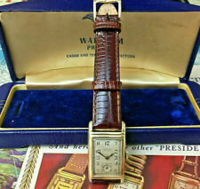 Vintage Waltham Premier 17 Jewel Mechanical Mens Watch 750 USA Restored + Boxes!