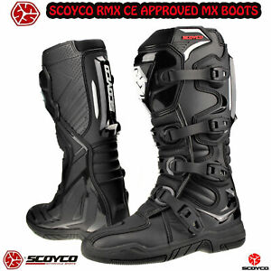 SCOYCO RMX Motocross Sports Enduro Motorbike Scooter CE Off-Road MX Racing Boots