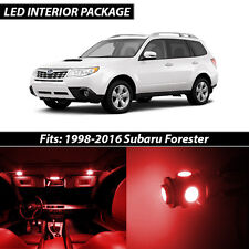 1998-2016 Subaru Forester Red Interior LED Lights Package Kit