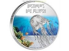 1 $ Deadly & Dangerous 2011 Box Jellyfish Würfelqualle Tuvalu 1 oz Silber PP