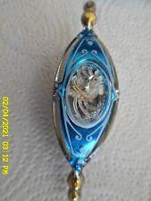 "Vintage Jewelbrite Teardrop / Peacock? Cut-Out Christmas Ornament Plastic 4"""