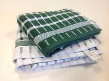 GRANDE Terry towling Tea asciugamani Confezione da 4 Verde & Bianco Verificato bella qualità