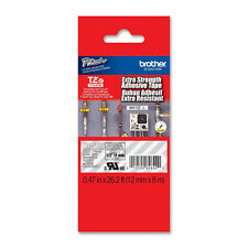 Brother TZS135 12mm extra strength white on clear tape PT2030 PT2030AD PT2430PC