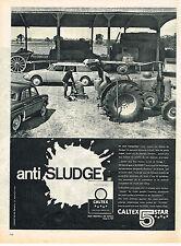 PUBLICITE ADVERTISING 044  1961  CALTEX 5 STARS    huile ANTI SLUDGE