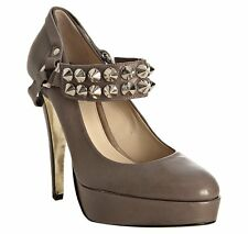 "Be&D ""Richmond"" Studded Platform Pump Shoes $550, Sz 38"