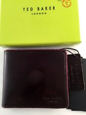 Ted Baker Piping Edge Bifold Wallet Chocolate With Defect