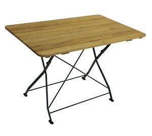 Gartentisch Klapptisch Biergartentisch Gartenmöbel Tisch BAD TÖLZ 70x110cm grün
