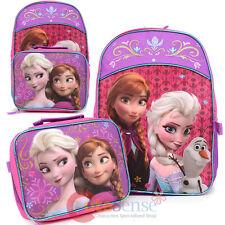Disney Frozen Elsa Anna Large Backpack Detachable Lunch Bag Combo w/Olaf Pink