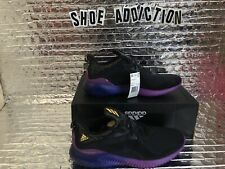 adidas Men's Alphabounce M Running Shoes Black/Solar Gold/Shock Purple Pick Size