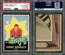 1968 O-PEE-CHEE OPC #199 LORNE WORSLEY PSA 0 AUTHENTIC ALTERED (5158)