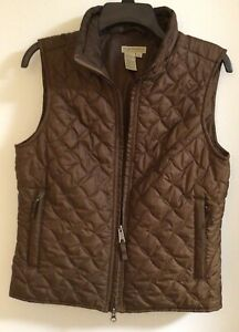 Royal Robbins Front Zip Brown Packable Quilted Vest Medium