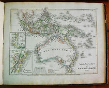 1849 MEYER'S ZEITUNGS-ATLAS=GEOGRAPHICAL MAP:NEW HOLLAND AUSTRALIA, OCEANIA