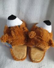 Girl Cuddle Slippers Bear Size L (10-12) Age New
