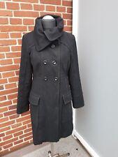 VERO MODA Damen Caban Mantel  Schwarz 60% Wolle  Gr. L