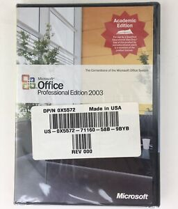 NOS Microsoft Office Professional 2003 Academic Edition Software