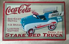 COCA COLA DIE CAST METAL 1:3 SCALE LTD ED STAKE BED TRUCK PEDAL CAR NIB #1441 MI