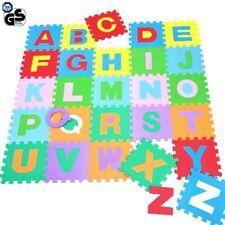 Tappeto Puzzle per Bambini Set 60 Pezzi Gioco Tappetino Lettere Alfabeto Gomma