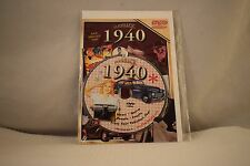Flickback Greeting or Birthday Card With DVD  For Those Born in 1940    (v417)