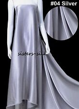 """100% Pure Mulberry Silk Charmeuse Fabric 19 Momme 280cm/110"""" Extra Wide Bedding"""