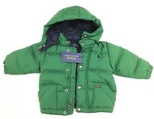 RRP £130 Polo Ralph Lauren Boys Green Down Jacket. Size 12 months