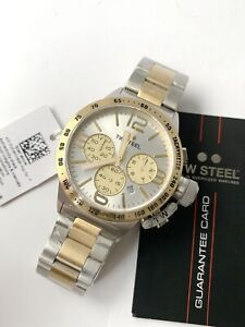 TW Steel Watch * CB33 Canteen 45MM Chrono Gold & Silver Steel COD PayPal NO BOX