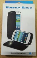 3000mAh External Battery Power Flip Cover Case For Samsung galaxy S3 (BLACK)