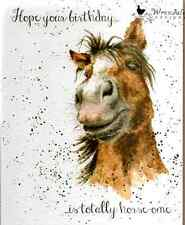 Wrendale Designs Greeting Card hope your birthday is totally horse ome awesome
