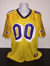 Los Angeles Lakers Yellow NBA Jersey #00  By Majestic Size Large Pre-owned As is