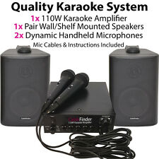 Home Karaoke Machine Kit -Speakers & Microphones Player/Amplifier Children's TV