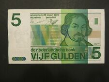 Niederlande Banknote 5 Gulden 1973 gebrauchte Umlauferhaltung (USED) in XF/AU