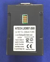 10 batteries (Japan Li7.4v2600mAh)for LXE,Honeywell Tecton MX7 #MX7A380BATT...