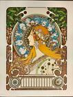 Alphonse Mucha Zodiac Calendar Grid Fine Art Lithograph ME 15/35 S2 Atelier