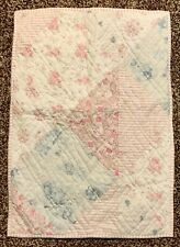 New Quilted Pillow Sham Standard Shabby Chic Country Farmhouse Pink Blue Beige