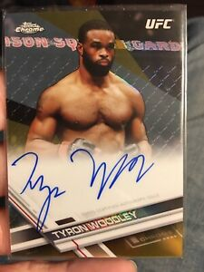 2017 Tyron Woodley On Card Auto SP REFRACTOR BLACK 33/50 Looks Like PSA 10