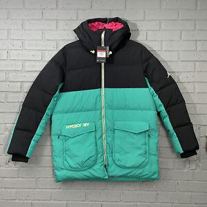 $275 Men's Air Jordan Down Fill Parka Jacket CK6661 011 Black Teal Size L Large