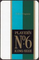 Playing Cards Single Card Old Vintage PLAYERS No.6 Cigarettes Advertising Art C