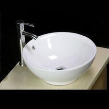 NEU Weiß Keramik Rund Waschschale Waschtisch Waschbecken Hand Waschplatz Aufsatz