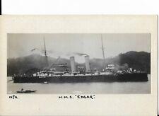 RP Military Naval Postcard - H.M.S. Edgar.