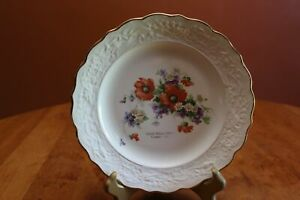 Vintage Advertising Plate Graf Creamery Zachow, WI Gold Rimmed Sabin Industries