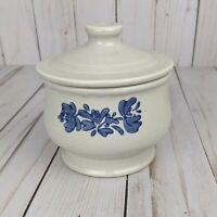 Pfaltzgraff Yorktowne Vintage Blue Gray Sugar Bowl with Lid Made in the USA 22Y