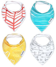 4 New Minimee Baby Bandana Drool Bibs with Snaps 100% Organic Cotton Burp Cloth