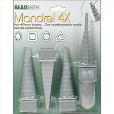 BeadSmith Mandrel 4X, Many Angle Wire Mandrel 4 Shapes/48 Sizes Wire Looping