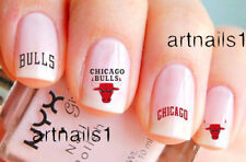 Chicago Bulls Basketball Sports Nail Team Fan Water Decal Stickers Salon Manicur