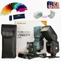 US Godox V860II-N 2.4G TTL Flash Speedlite HSS 1/8000s Li-ion Battery for Nikon