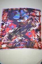 Paul Smith PS Womens Silk Check Rose Scarf Brand New