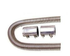 """Universal 24"""" Stainless Radiator Hose with Chrome Caps"""